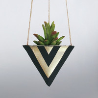 Air Planter, Hanging Planter, Succulent Planter, Concrete Planter, Black Planter, Modern Planter, Geometric Planter, Mini Planter, Gold
