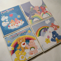 Care Bears Characters Ceramic Coasters set of 4 by myevilfriend