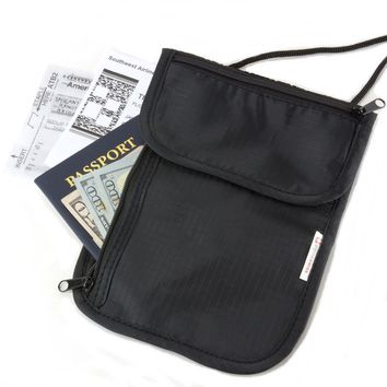 Alpine Swiss Travel Neck Pouch Wallet Undercover Security Stash Bag