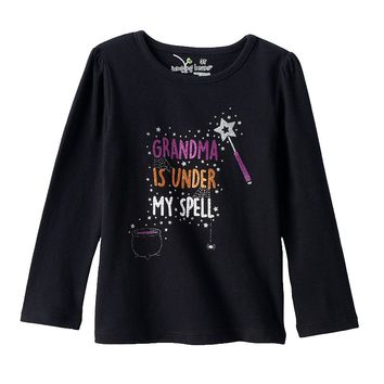 Jumping Beans Halloween Glitter Tee - Girls