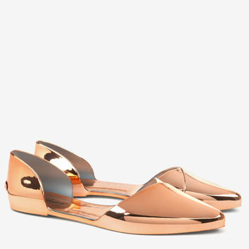 Cut out jelly flats - Rose Gold  85d5de341