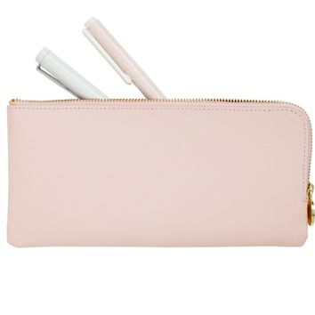 LEATHER PENCIL CASE: PINK