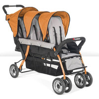 Foundations Trio Sport 3-child Stroller Orange - 4130309