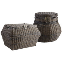 Collin Braid Storage Baskets - Mocha