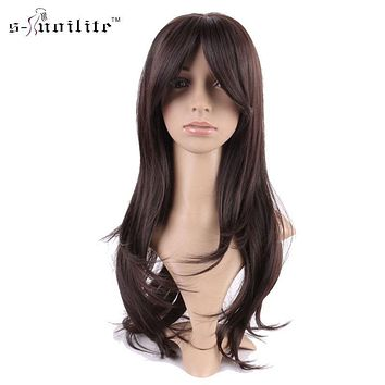 SNOILITE Women Full Wigs Synthetic Streak Cosplay Ladies Stylish Cosplay Party Daily Curly Natural Dress None Lace Wigs