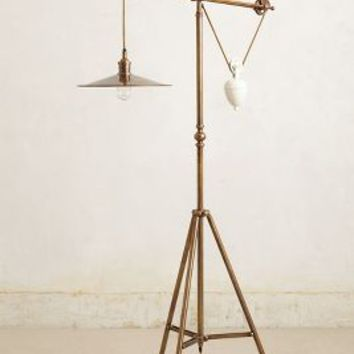 Counterbalance Floor Lamp by Anthropologie in Bronze Size: One Size Lighting