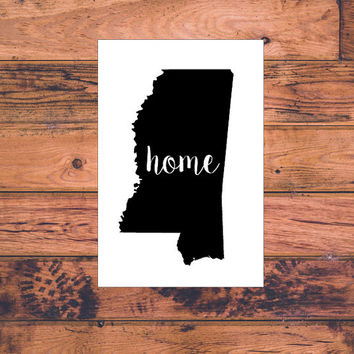Mississippi Home Decal | Mississippi State Decal | Homestate Decals | Love Sticker | Love Decal  | Car Decal | Car Stickers | 116