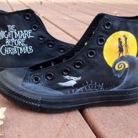 Custom Painted Nightmare Before Christmas Converse