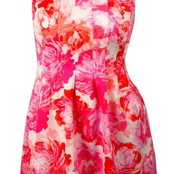 Jessica Howard Women's Floral A-line Dress