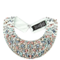 Cluster beaded collar - Mid Green | Jewellery | Ted Baker UK