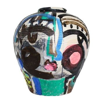 "Pre-owned ""Jug Face 2"" by Sally King Benedict"