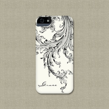 iPhone Case, Elegant Black and White iPhone 4 / 4S, iPhone 5, Galaxy S3 / S4, iPod Touch, iPad Mini, iPad 2 / 3, iPhone 5S, iPhone 5C Case