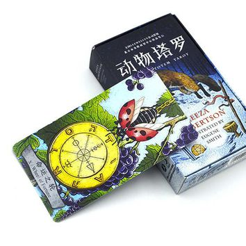 2016 new animals tarot cards English and Chinese version best quality board game playing cards for family cards game