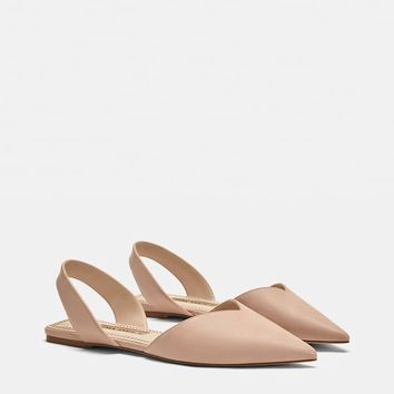 BASIC FLAT SLINGBACK SHOES DETAILS