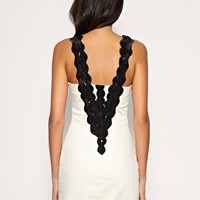 Rare | Rare Opulence Pleat Neck Trim Boned Dress at ASOS