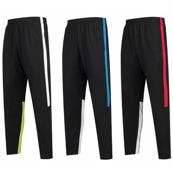 Survetement football 2018 soccer training pants Pocket Jogging Trousers Fitness Workout Running Sport Pants Football tracksuits