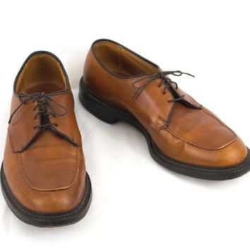 Allen Edmonds Shoes 10.5 D Brentwood USA Apron Toe Oxford Chestnut Brown EU 43.5