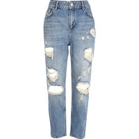 River Island Womens Light wash vintage straight jeans