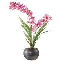 """Threshold™ Faux Orchid in Ceramic Pot - Pink 21"""""""