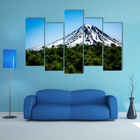 Viluchinskiy Volcano Kamchatka In Russia Multi Panel Canvas Wall Art