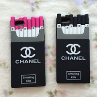 """Chanel""fashion hot sale iPhone cases Tempered film red black For Black Friday"