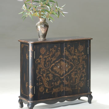 Leyden European Black Painted Console Cabinet by Butler Specialty Company 1737177