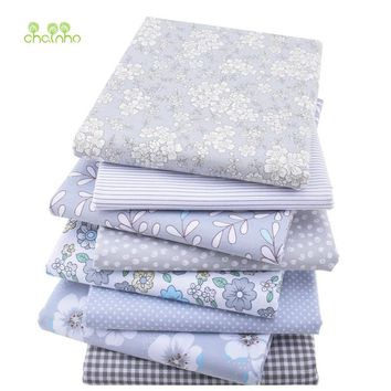8pcs/lot,New Twill Cotton Fabric Patchwork Gray Tissue Cloth Fat Quarter Bundle Of Handmade DIY Quilting Sewing Textile Material