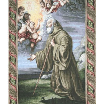 Saint Frances from Paola Tapestry Wall Art Hanging