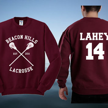 Teen Wolf Sweatshirt Lacrosse Jumper Fan Sweater Top