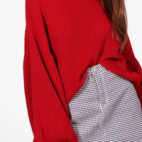 Annie Balloon Sleeve Jumper | Boohoo