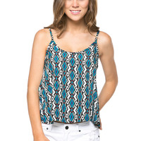 Green Tribal Print Swing Tank