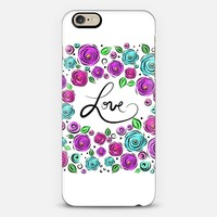 Love Blooms on White iPhone 6 case by Lisa Argyropoulos | Casetify