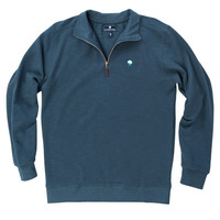 Pique Knit Pullover in Indian Teal by The Southern Shirt Co.