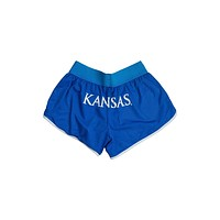 University of Kansas Mesh Running Short
