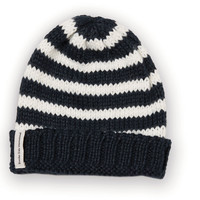 Navy Stripe Davis Junior Beanie