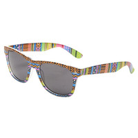Neon Tribal Wayfarer Sunglasses | Wet Seal