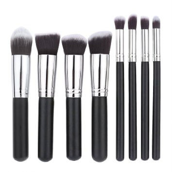 8 PC Premium Makeup Kabuki Contouring Brush Set