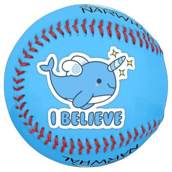 Narwhal I Believe Softball