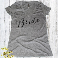 New Bride Shirt, Wifey Shirt, Bridal Shirt, Bridal Shower Gift, Wedding, Bachelorette Gift, Bride To Be, Classy Fitted Shirt