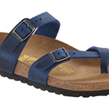 Mayari Twilight Blue Oiled Leather Sandals | Birkenstock USA Official Site