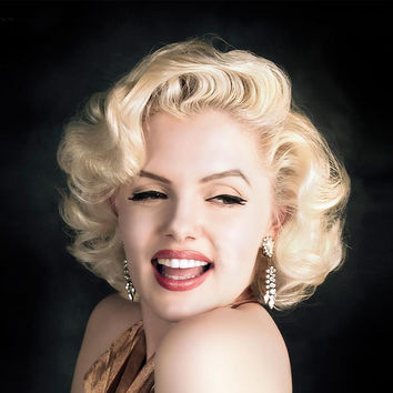 Marilyn Monroe Blonde Synthetic Short Wigs