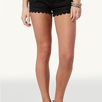Crochet Trim Shorts