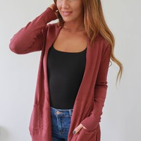 Remember Me Cardigan - Berry