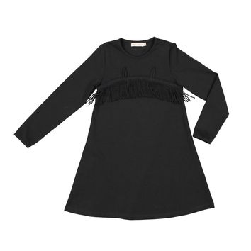 Carbon Soldier Girls' Black Don Dress