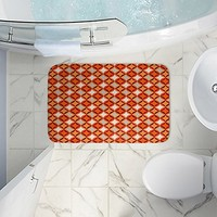 DiaNoche Designs Bath and Kitchen Mats Made of Memory Foam Unique by Julia Grifol - Circles Red