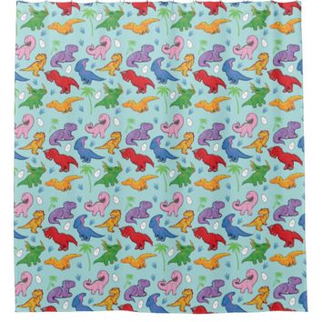 Cute Dinosaur Pattern Shower Curtain