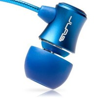 JBuds J3 Micro Atomic In-Ear Earbuds Style Headphones with Travel Case (Electric Blue) (Discontinued by Manufacturer)