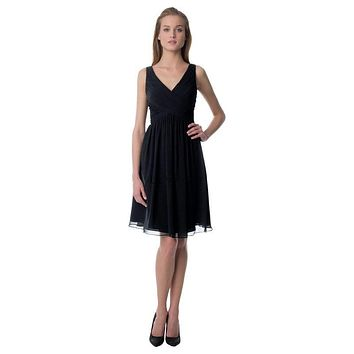 Bill Levkoff 945 Chiffon V-Neckline Tank Bridesmaid Dress