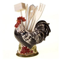 Certified International Tuscan Rooster by Pamela Gladding 7-pc. Kitchen Utensil & Crock Set (Red)