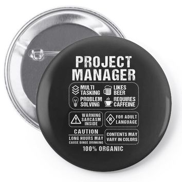 Project Manager Pin-back button